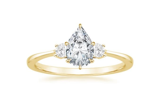 Brilliant Earth Lab Diamond Ring (1/10 ct. tw.) with 1.00 Carat Pear Lab Created Diamond ($4,625)