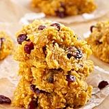 No-Bake Pumpkin Spice Cranberry Cookies