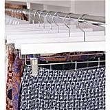 White Wooden Trouser Clamp and Skirt Hanger