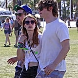 Coachella was the perfect place for Emma Roberts to exude whimsy in her red heart-shaped sunglasses. Sport these Quay heart sunglasses ($40) at your next Summer concert.