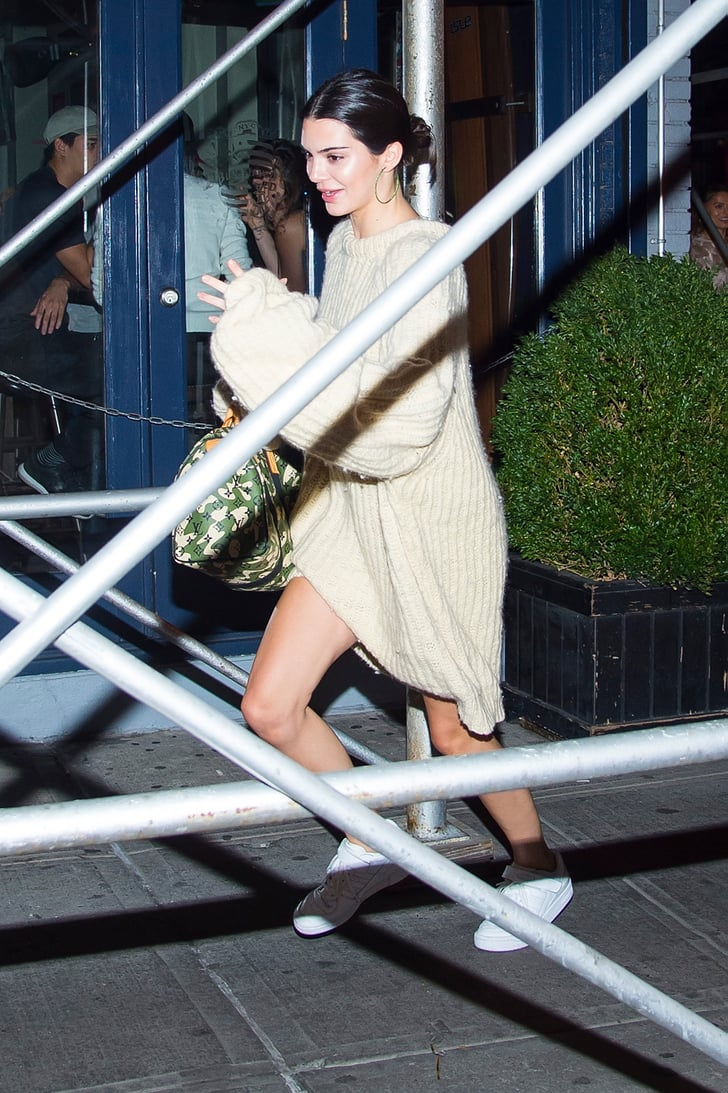 Kendall Also Wore a Fuzzy Cream Sweater