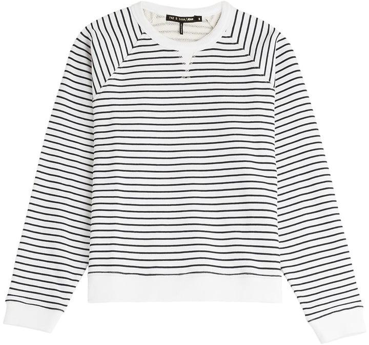 Rag & Bone Striped Cotton Sweatshirt ($215)