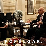 Angelina Jolie met with the Lebanese Prime Minister Tammam Salam.