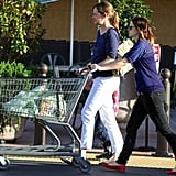 Drew Barrymore pushed her food out to the car.