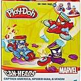 Marvel Can-Heads Captain America, Spiderman, and Venom Set by Play-Doh