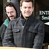Joshua Jackson on the set of Fringe.