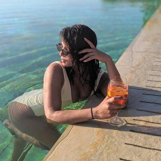 Priyanka Chopra Wears White Swimsuit