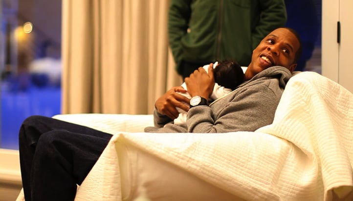 Jay-Z and Beyoncé shared the first photos of Blue Ivy Carter in February 2012.   Source: Tumblr user helloblueivycarter
