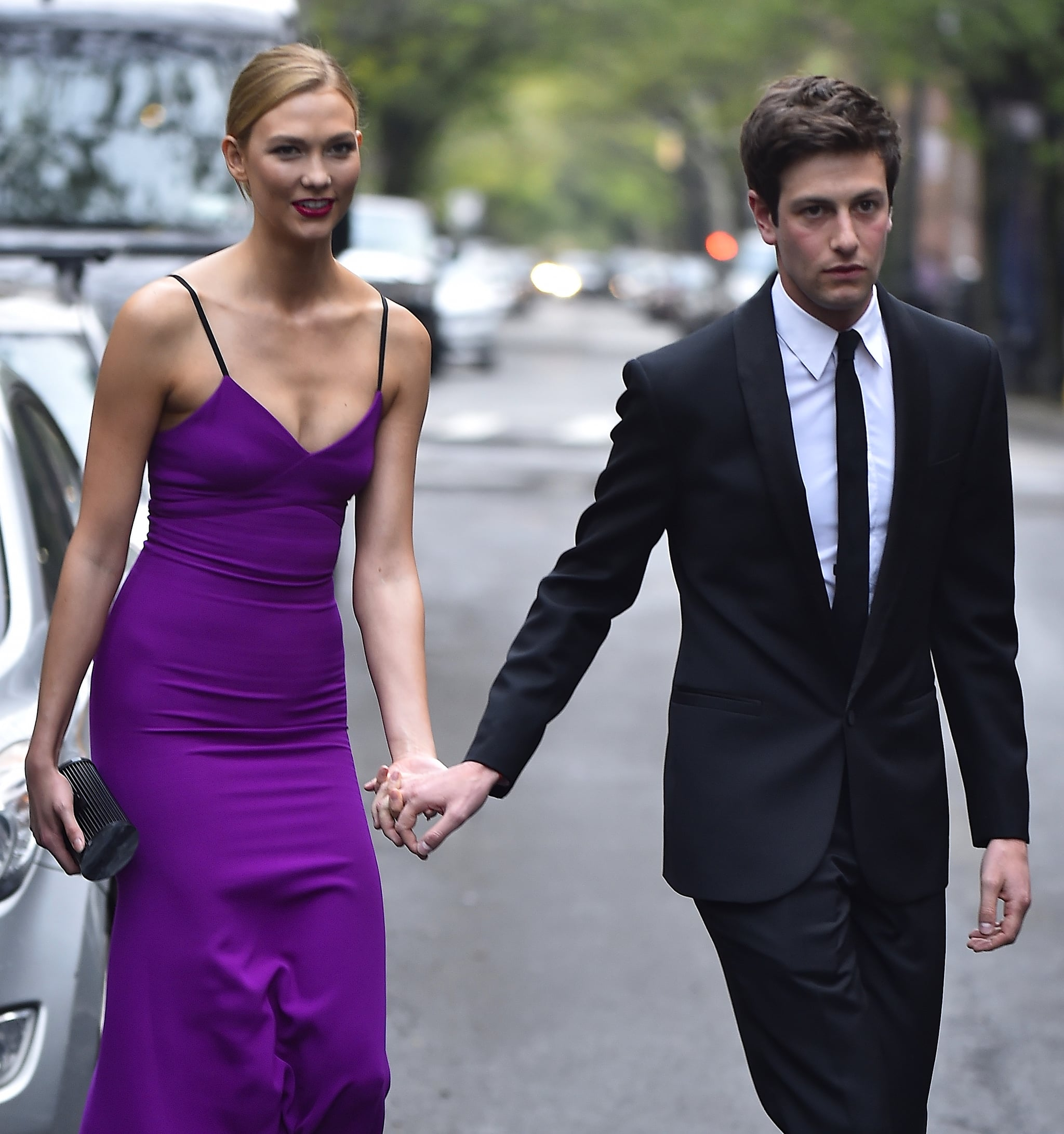 NEW YORK NY- APRIL 26 Karlie Kloss Joshua Kushner are seen in the West Village