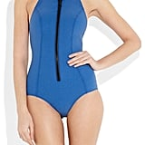 Play the ultimate Bond girl in this sleek neoprene one-piece. Lisa Marie Fernandez The Lisa Marie Halterneck Swimsuit ($435)