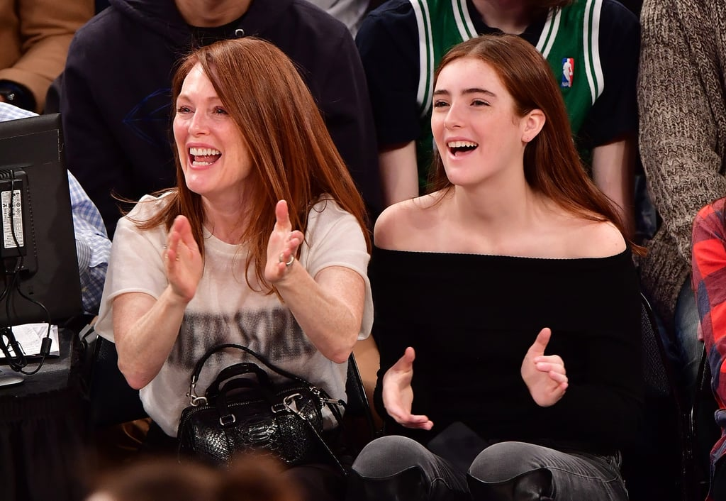 One of the most fun ways to celebrate Christmas is by taking in a sports game, which is exactly what Julianne Moore and her family did on Sunday morning. The Oscar winner sat courtside to watch the NY Knicks play the Boston Celtics with her husband, Bart Freundlich, and lookalike 14-year-old daughter Liv. While the couple's son, Caleb, was missing from the fun, his family seemed to be having entirely too much fun at the game without him. The trio got really into the event, cheering, clapping, and looking a bit distressed during a few plays — the Knicks ended up losing to Boston by just five points — but Julianne and Liv's matching expressions were the icing on the cake.      Related:                                                                They've Got Spirit! 50+ Pictures of Stars Freaking Out at Sports Games                                                                   28 Celebrity Moms Who Are Nearly Identical to Their Kids