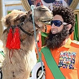 Sacha Baron Cohen was accompanied by a camel upon his entrance for the Cannes Film Festival.