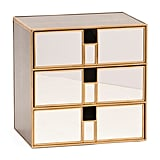 Brass and Mirrored Desktop Cubby