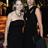 Jodie Foster and her wife, Alexandra Hedison, posed inside the HBO party.