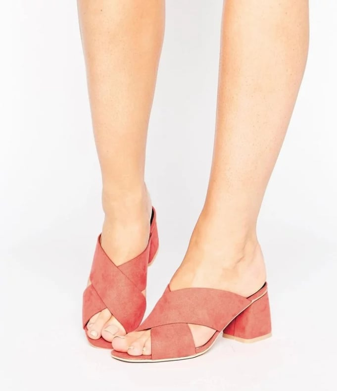 Lost Ink Wide Fit Cross Strap Mules