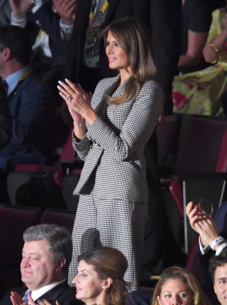 Melania Trump Dior Houndstooth Suit
