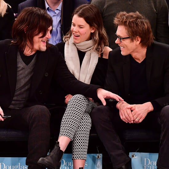 Norman Reedus and Kevin Bacon at Knicks Game January 2017