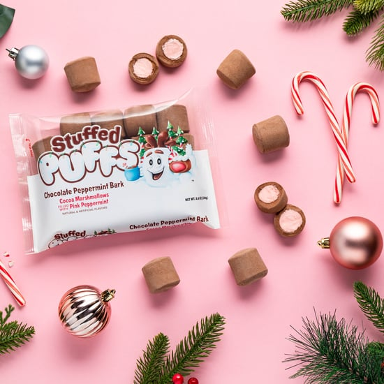 Stuffed Puffs Debuts Chocolate Peppermint Bark Marshmallows