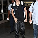 Justin Bieber caught a flight out of LAX.