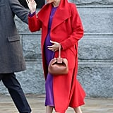 Meghan in a Bold Statement Outfit
