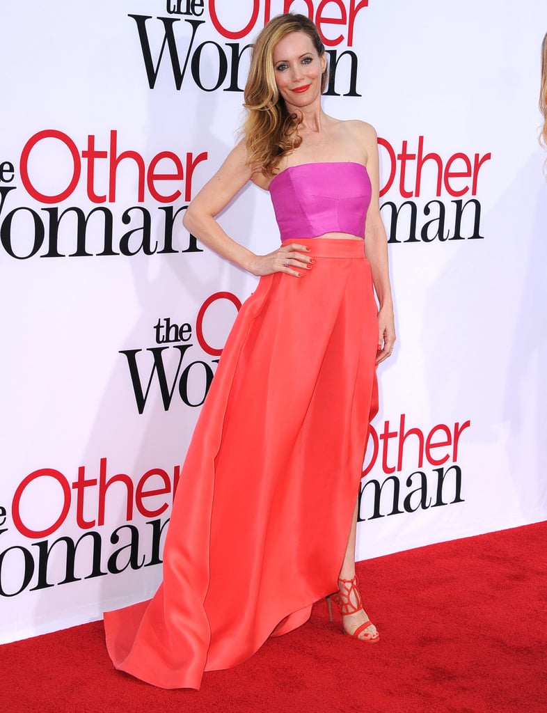 Leslie Mann in Monique Lhuillier at the LA Premiere of The Other Woman