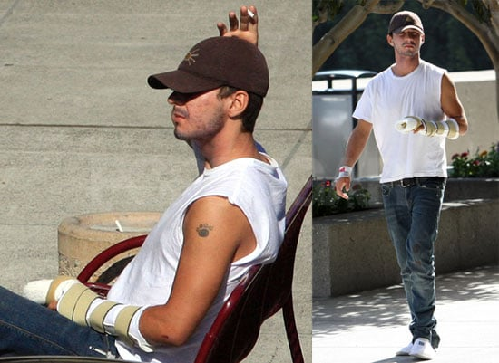 Photos of Shia LaBeouf With Broken Hand at the Hospital