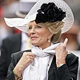 Princess Michael of Kent looked magnificent at the 2012 Royal Ascot — the white and black headpiece is so chi!
