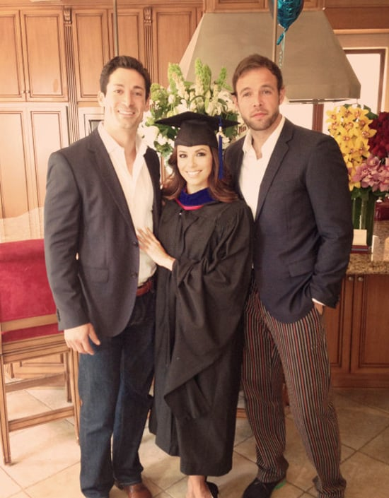 Eva Longoria had the support of Ben Patton and Ernesto Arguello for her graduation. Source: WhoSay user EvaLongoria