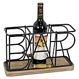 Foreside Bar Three-Bottle Caddy