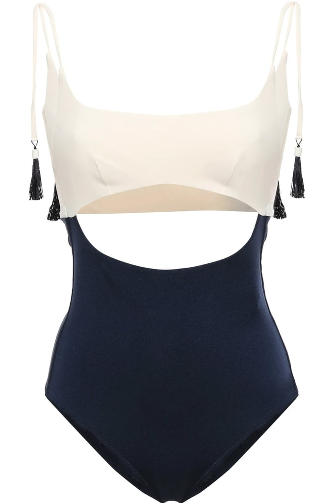 Emma Pake Guilia Cutout Two-Tone Swimsuit