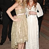 Ashley and Mary-Kate Olsen Wearing Oscar de la Renta in 2005
