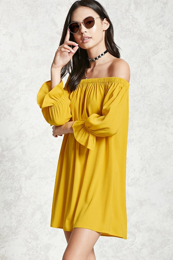 fa8c3768a214 Forever 21 Off-the-Shoulder Swing Dress