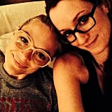 """Both Jaime and Ingrid wore their glasses, prompting Ingrid to write in her caption, """"F*ck contacts.""""  Source: Instagram user ingridmichaelson"""