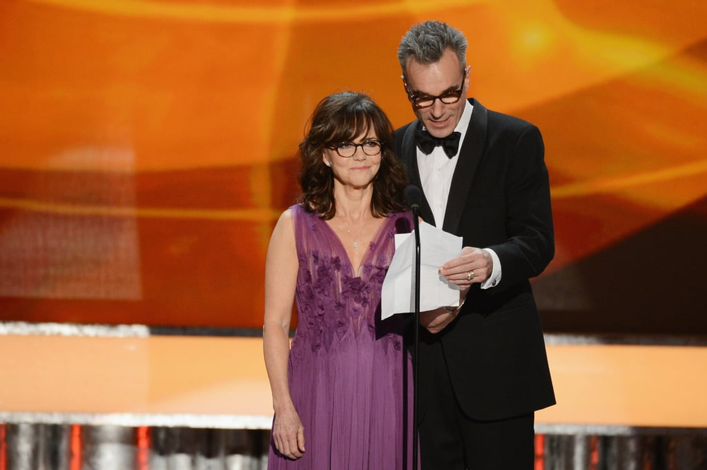 Sally Field and Daniel Day-Lewis presented together.