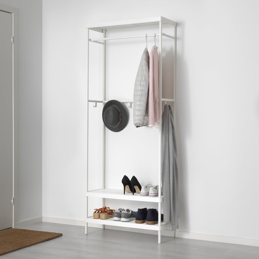 MACKAPÄR Coat Rack With Shoe Storage Unit, $79