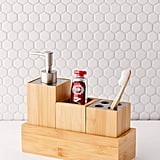 Bamboo Bathroom Organizer Set