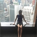 Victoria Beckham snapped a photo from high above Hong Kong.  Source: Twitter User VictoriaBeckham