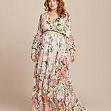 Camilla Blouson-Sleeve Wrap Dress
