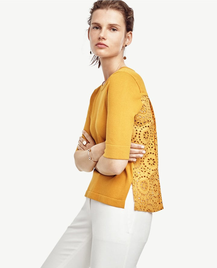 Ann Taylor Eyelet Back Top ($90)