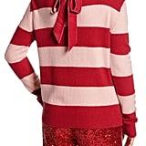 Halogen x Atlantic-Pacific Stripe Bow Back Sweater