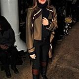 Nina Garcia donned the designer's cool-girl topper at Phillip Lim.