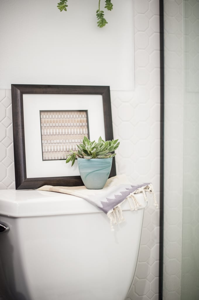 A closer look at the tile wainscoting. | Bathroom Renovation Ideas ...