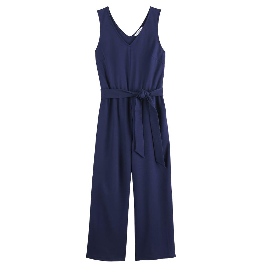 POPSUGAR Tie-Front Knit Jumpsuit