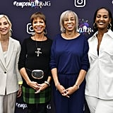 Sylvia Rhone, Gail Mitchell, Jacqueline Saturn, and Ethiopia Habtemariam at a Grammy Luncheon in LA
