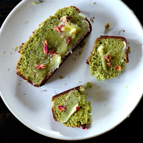 Matcha Morning Bread + Rose Water Ghee