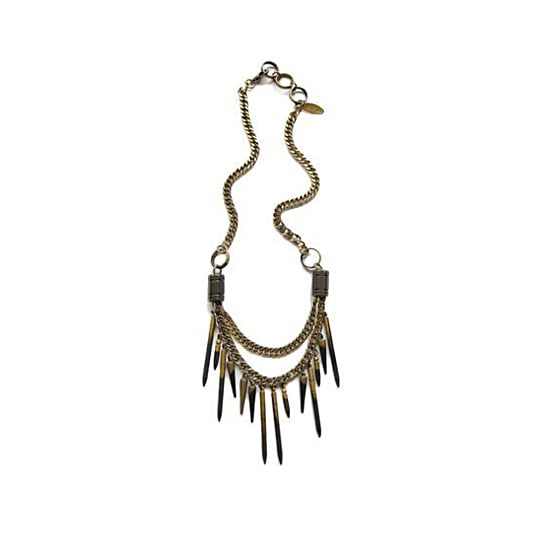 Candace Ang Layered Quill Necklace, $150