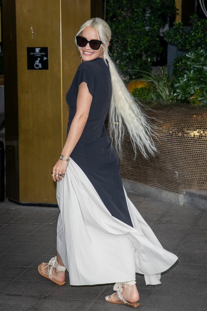 Rita Ora Is Swish, Swish, Swishing Her Long Platinum Blond Hair in Cannes