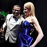 Pictured: Jordan Peele and Nicole Kidman