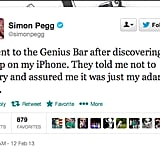 Actor and writer Simon Pegg, who celebrated a birthday this week, got punny.
