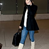Kate HUdson talked on the phone while out in LA.